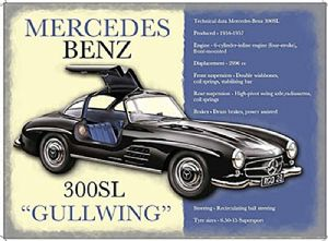 Mercedes 300SL Gullwing small metal sign   (og 2015)